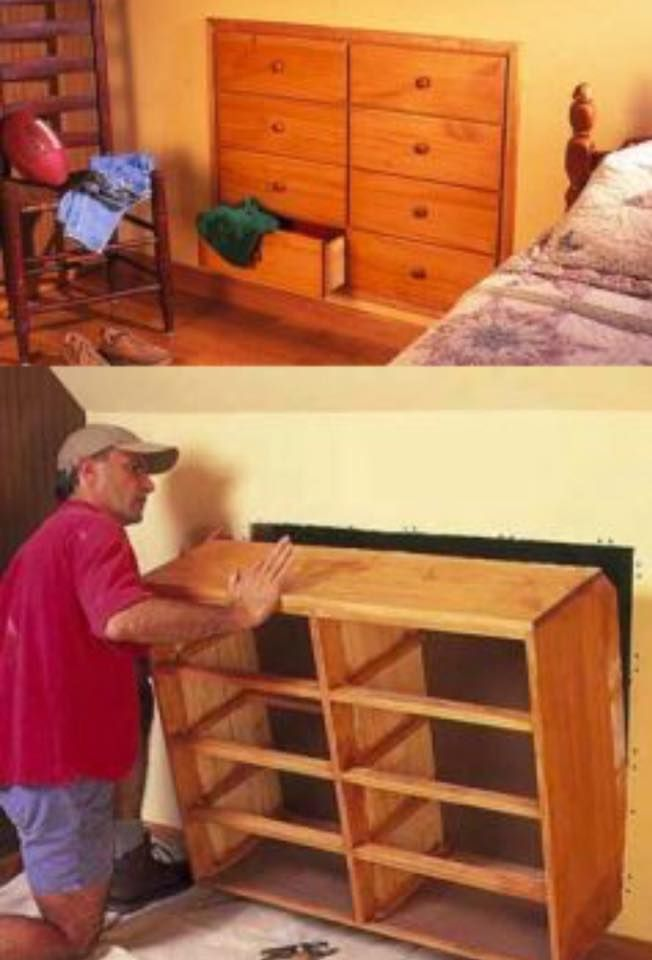 How to Install Knee-Wall Storage | Wall storage, Storage and Walls
