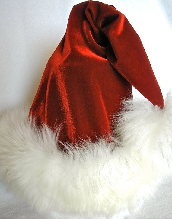 Luxury Red Christmas Hat in Shearling Swarovski by HOHOHATS, $78.00