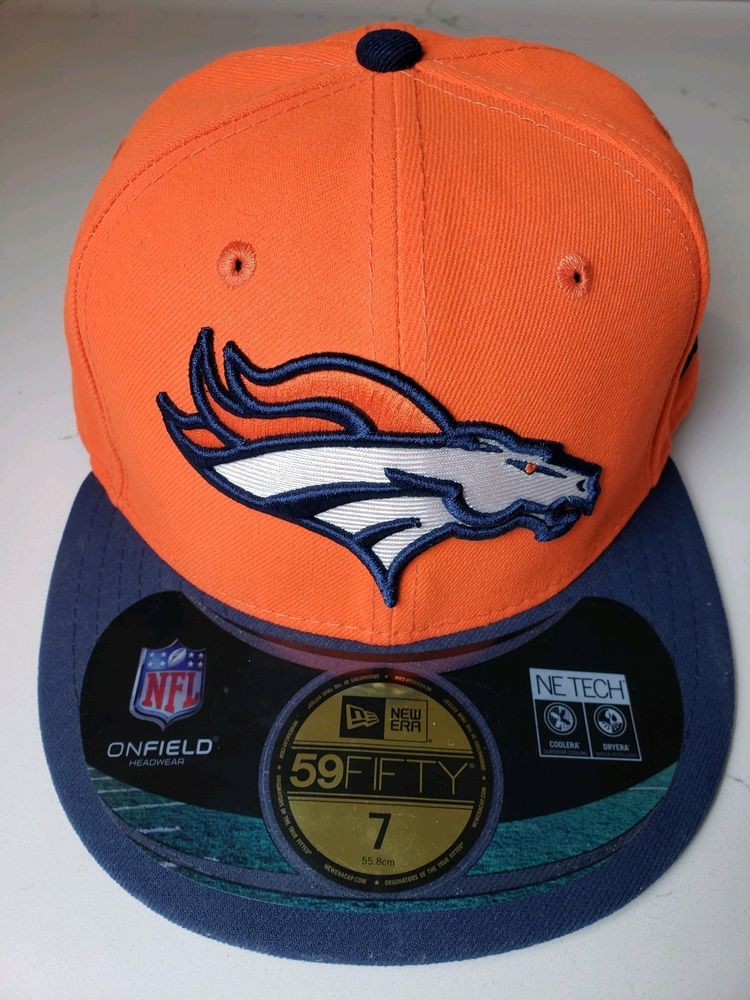 90808e62 Denver Broncos NFL New Era 59Fifty On Field Headwear NE Tech Hat,Cap ...