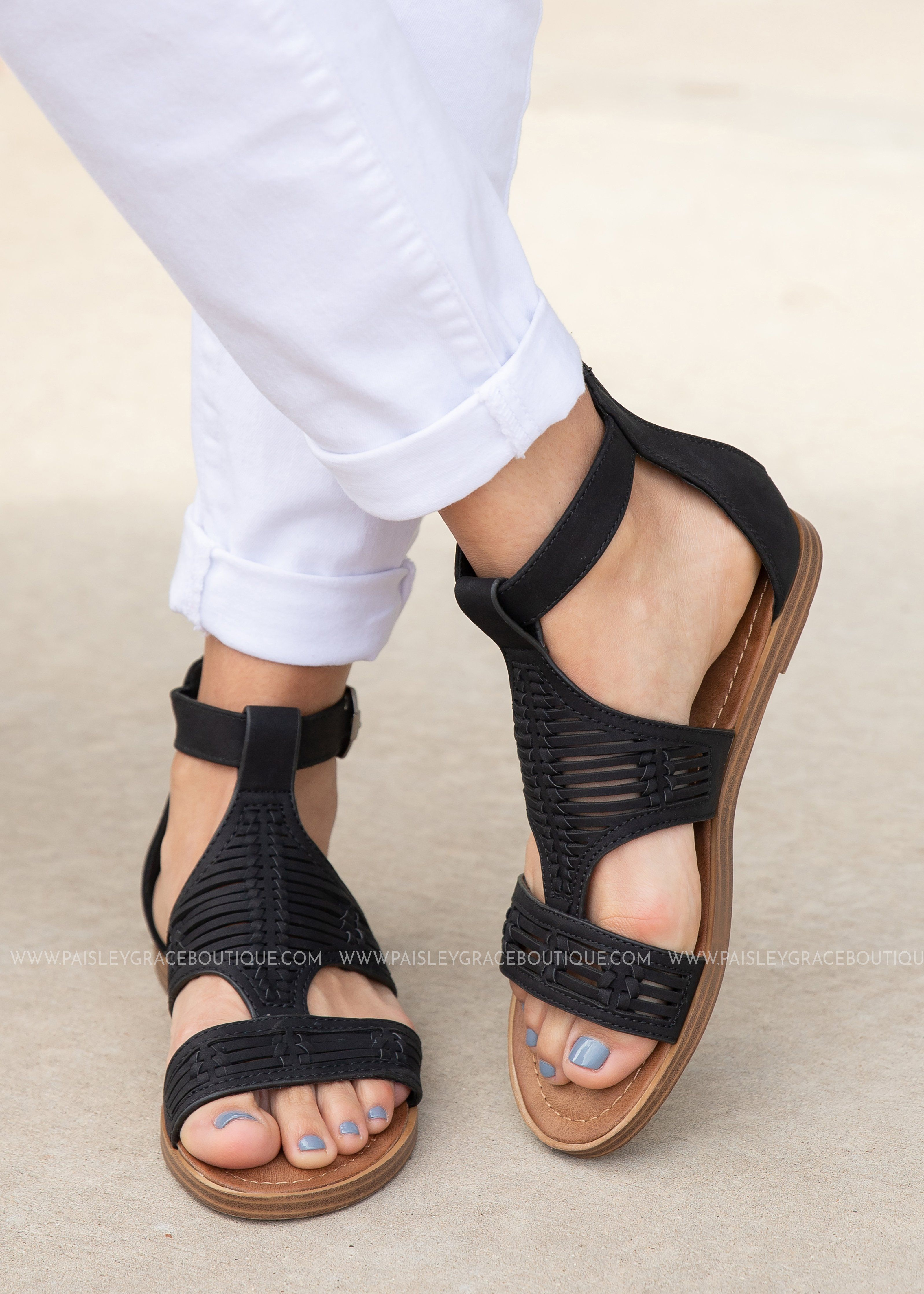0d795f27ed3 Calista Sandal by Corkys -BLACK from Paisley Grace Boutique