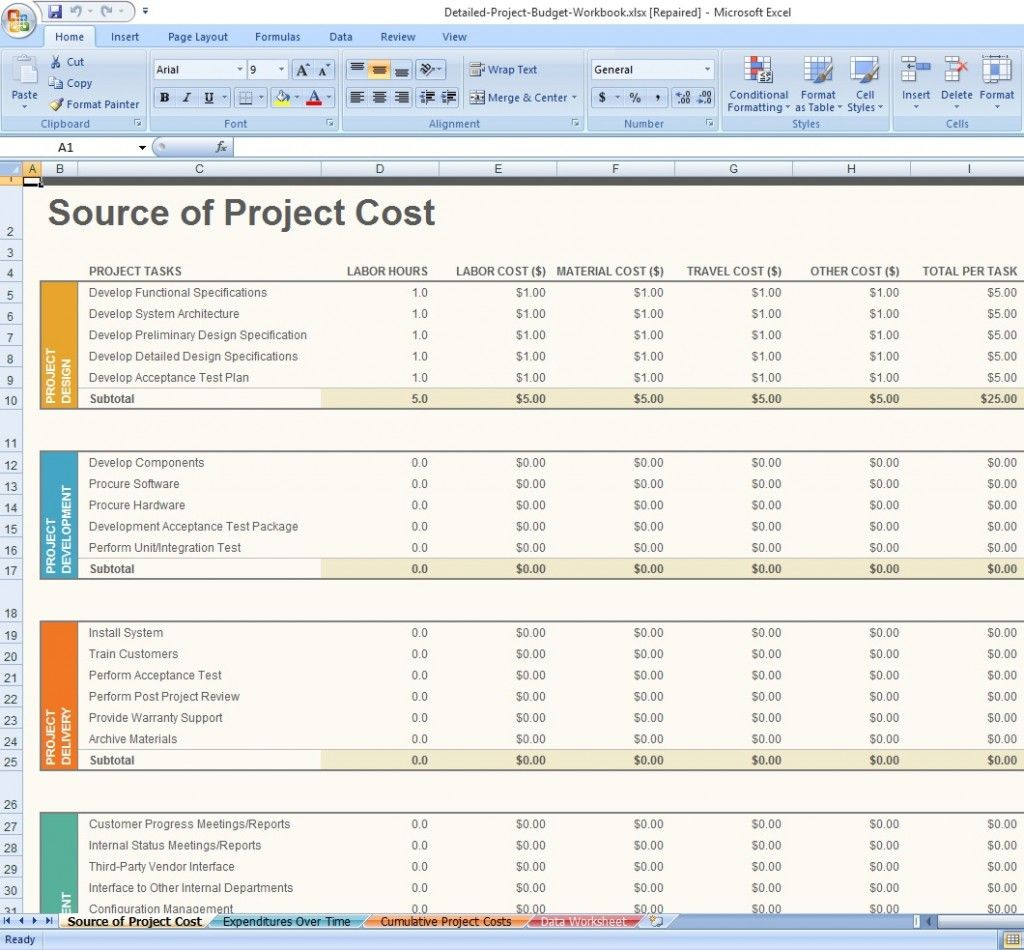 Project Management Excel Templates Free Download from