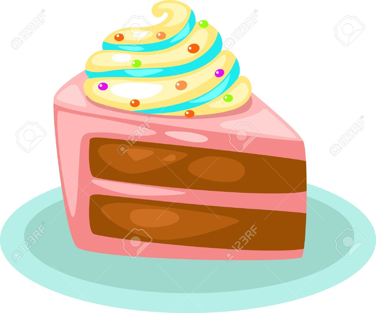 15454358 cake vector illustration stock vector cake cartoon slice rh pinterest com slice of cake clipart free slice of cake clipart black and white