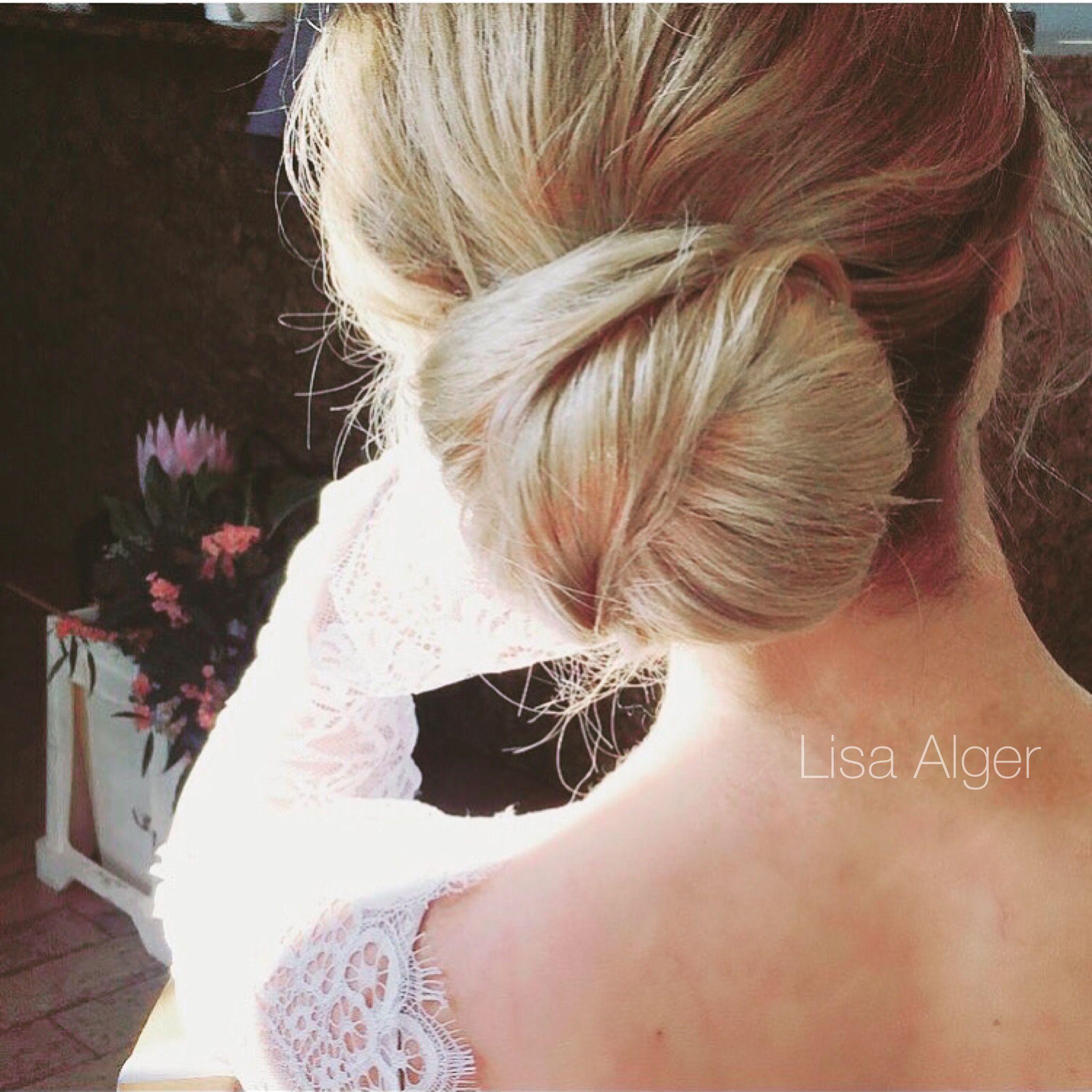 soft bridal knot bun by lisa alger | hair by lisa alger