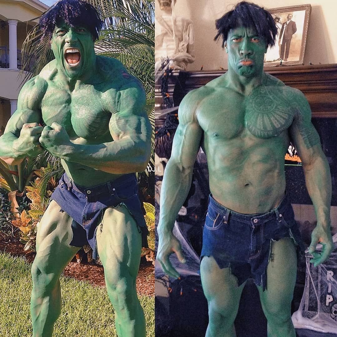 dwayne the rock johnson shares his hulk throwback halloween photo