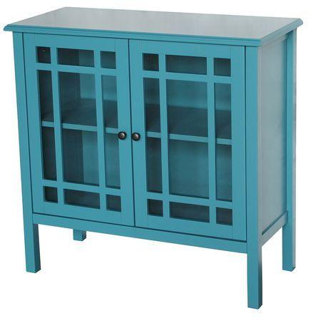 Hometrends Tempered Glass Door Accent Cabinet Walmart Kitchen