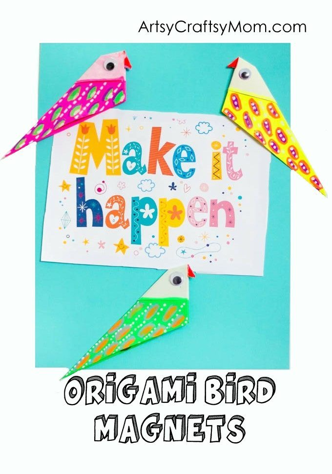 how to make a simple origami bird