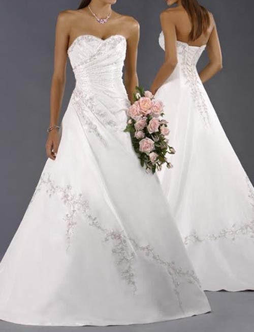 Details zu 2014 100%Lager Weißes Hochzeitskleid Braut Brautkleid ...