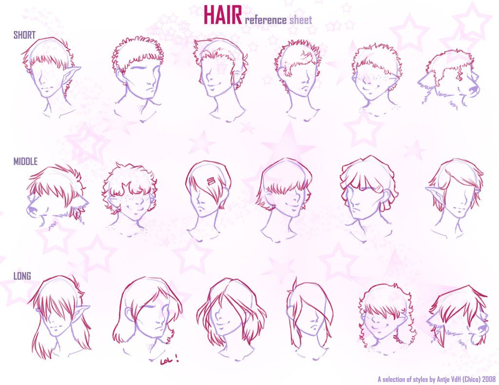 Hair Reference Sheet By Chicoritango On Deviantart Curly Hair Styles Mens Hairstyles Anime Guys