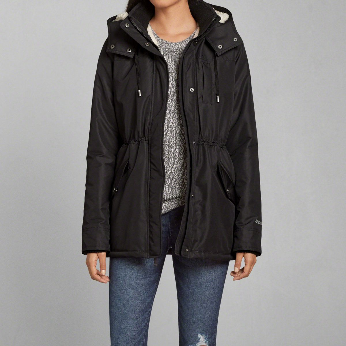 Womens A&F All-Season Weather Warrior Sherpa Lined Parka | Womens ...