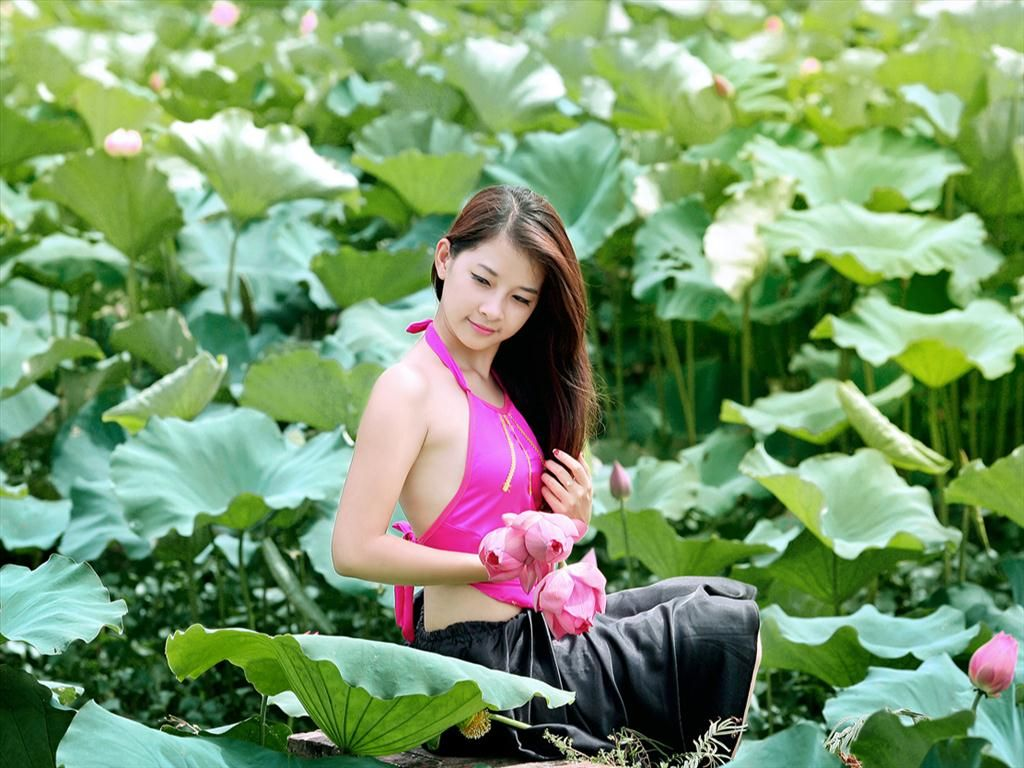 Pin By Thu Book Nguyen Hoang On Girl And Lotus Pinterest Cute