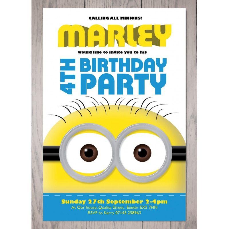 minion #1birthday party invitation | 5th birthday | pinterest, Party invitations