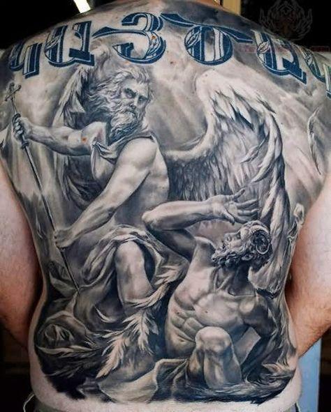 75 Tatuajes De Angeles De La Guarda Y Su Significado Tatuaje De Arcangel Galeria De Tatuajes Tatuaje De San Miguel