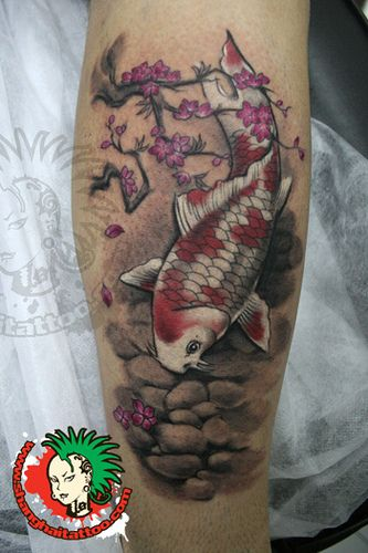 Traditional Chinese Watercolor Style Koi Tattoo Tatouage Geometrique Tatouage Et Designs De Tatouages