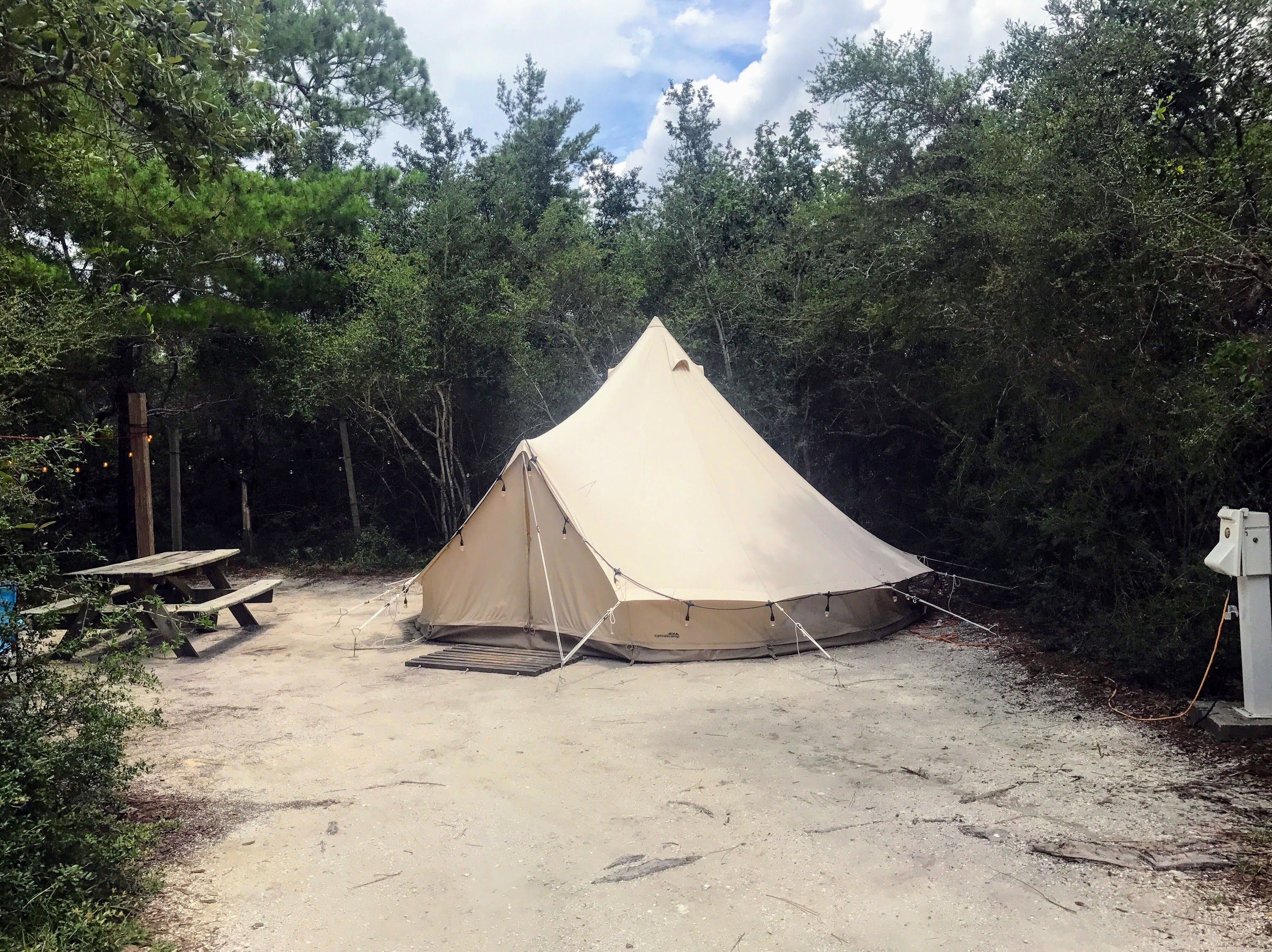 Beach Camping Is A Breeze At Grayton State Park Where You Will Enjoy The Benefits Of Electricity Picnic Table And Course Access To Beautiful