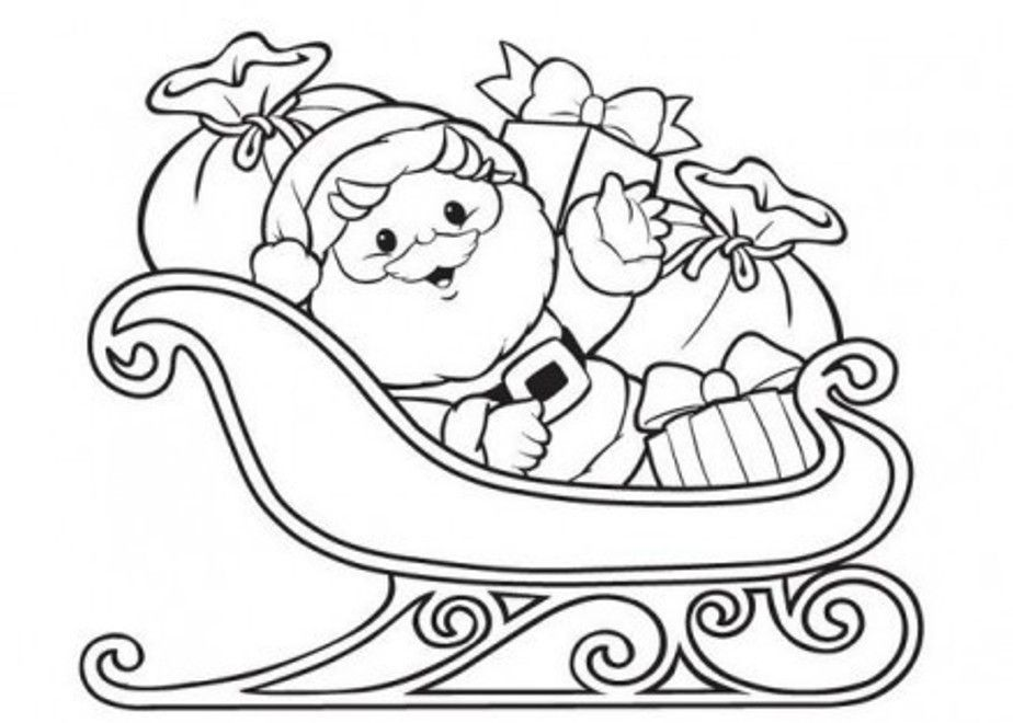Free santa claus coloring pages christmas coloring pages of