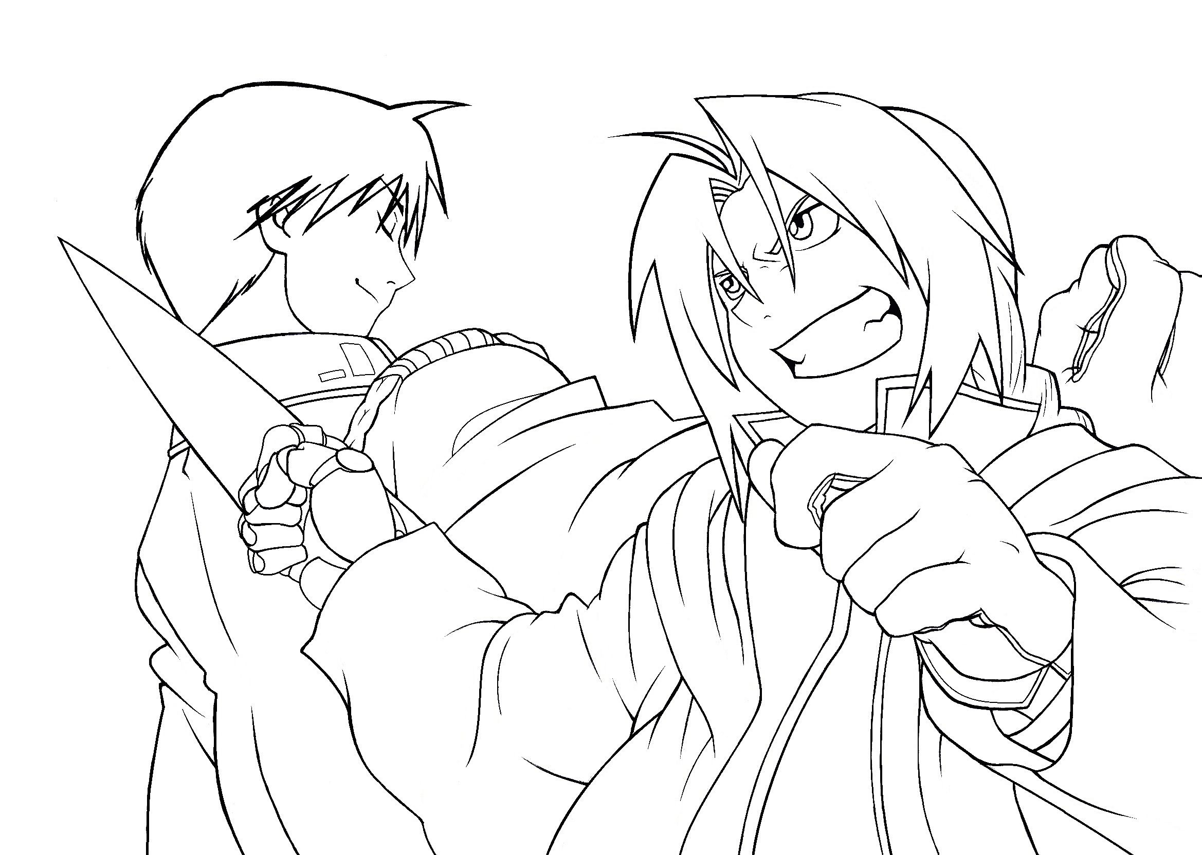 Edward Elric And Roy Mustang Lineart By Patriciamuacmuac Edward Elric Roy Mustang Fullmetal Alchemist