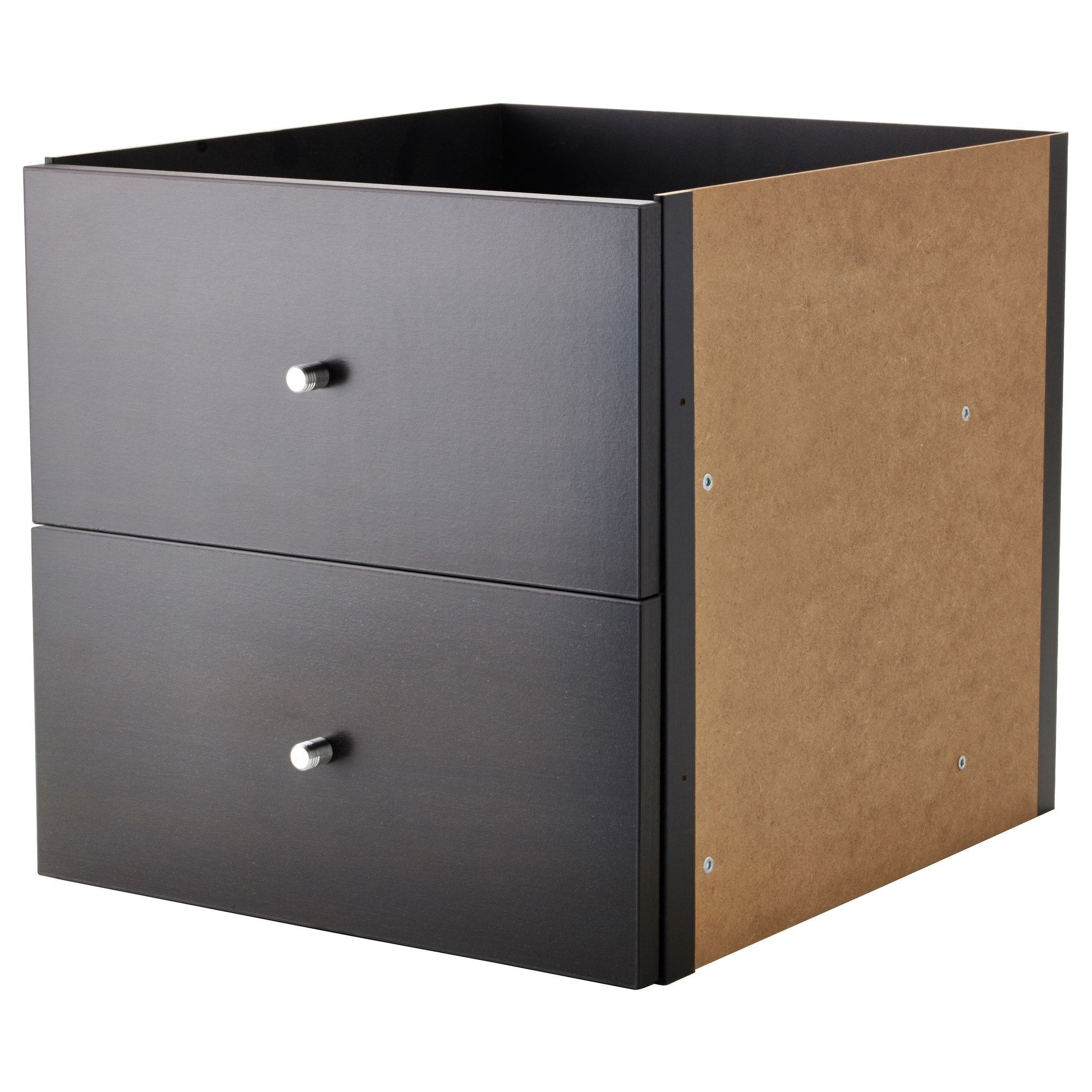 kallax insert with 2 drawers black-brown ikea | shedroom | pinterest