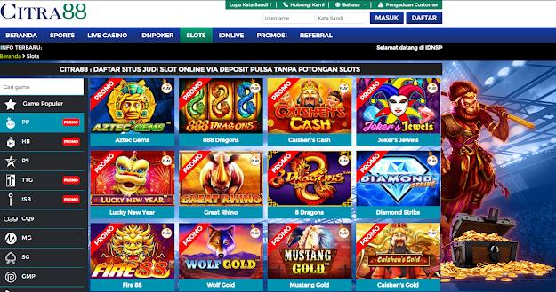 Main Slot Online Deposit Pulsa Tanpa Potongan Proses Tercepat 2020 Slots Website Selamat