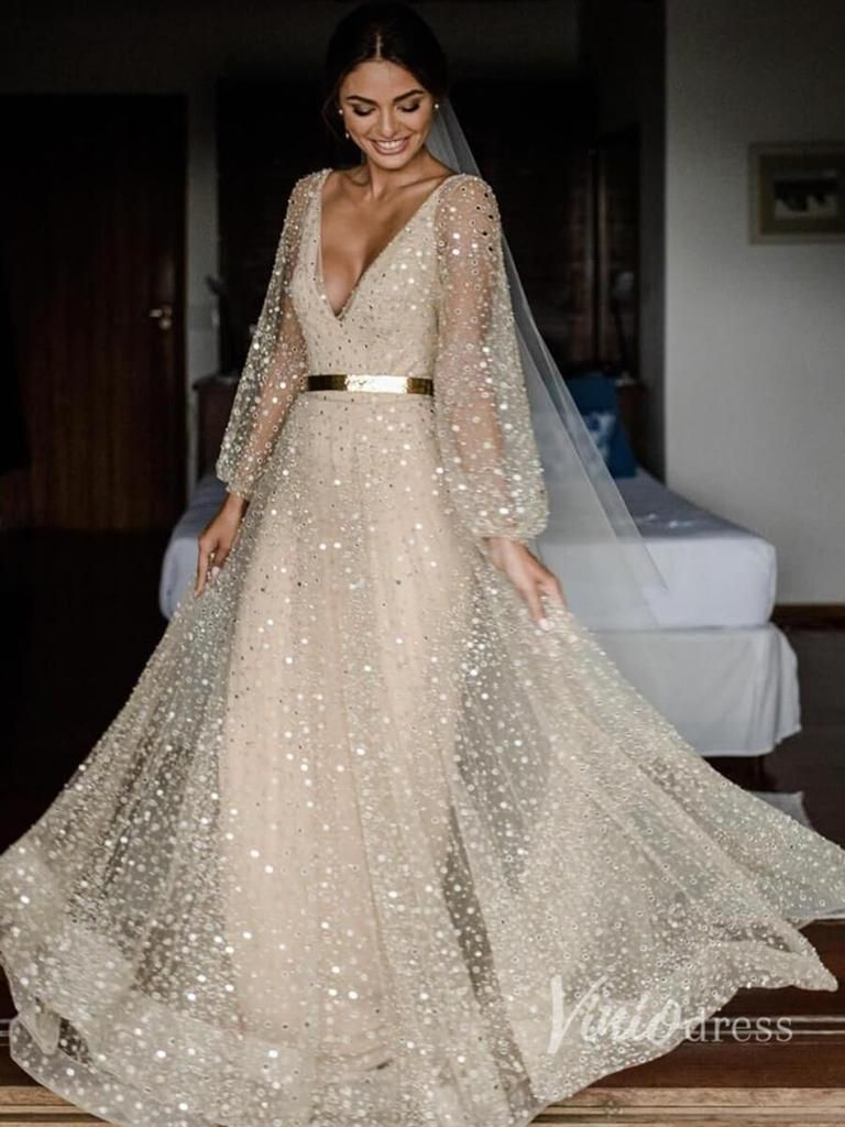 Short Sleeve Slate Blue Wedding Dresses For Photography Vw1116 Sparkle Wedding Dress Wedding Dress Sequin Wedding Dress Champagne [ 1024 x 768 Pixel ]