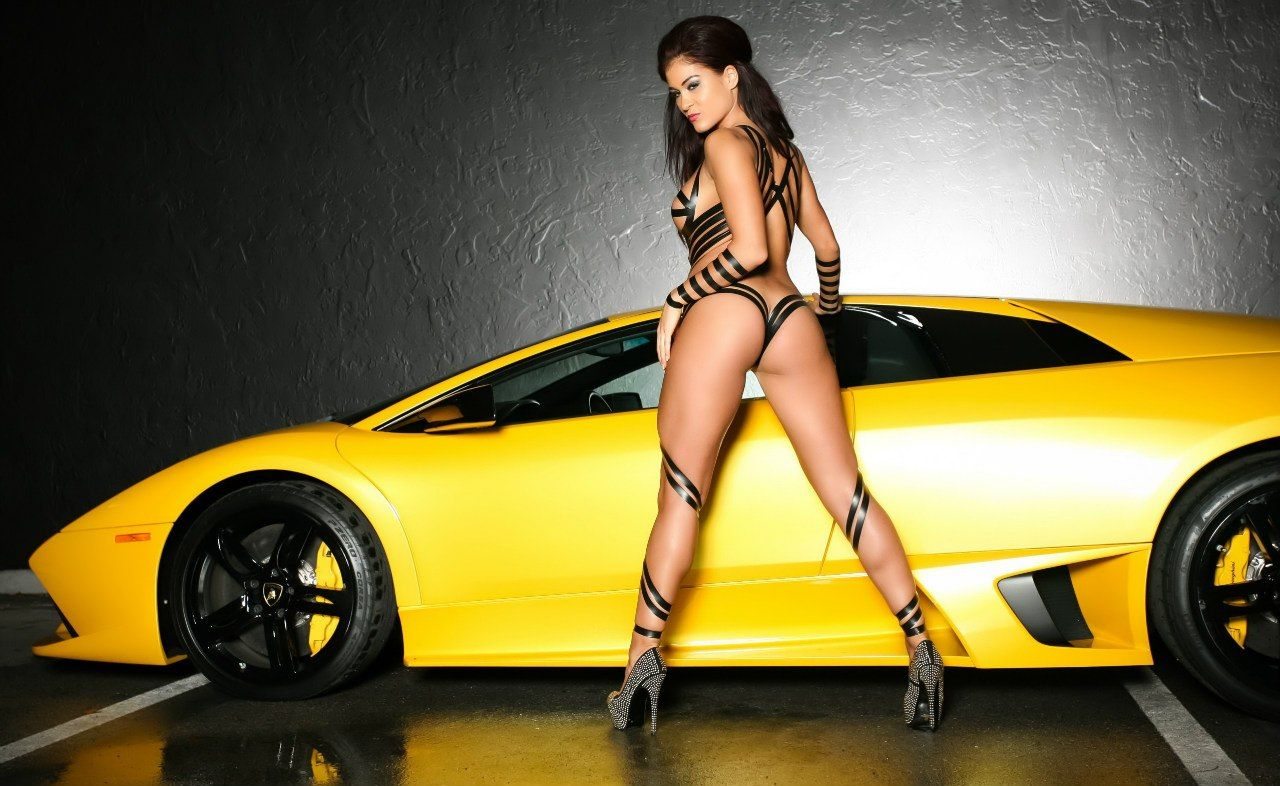 Yellow Lamborghini And Sexy Girl Lamborghini And Models