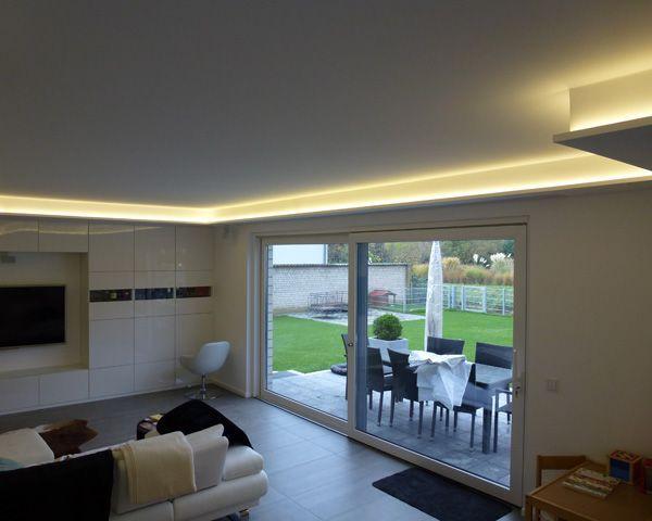 Wohnzimmer Beleuchtung LED Lichtlinie LED Beleuchtung Pinterest