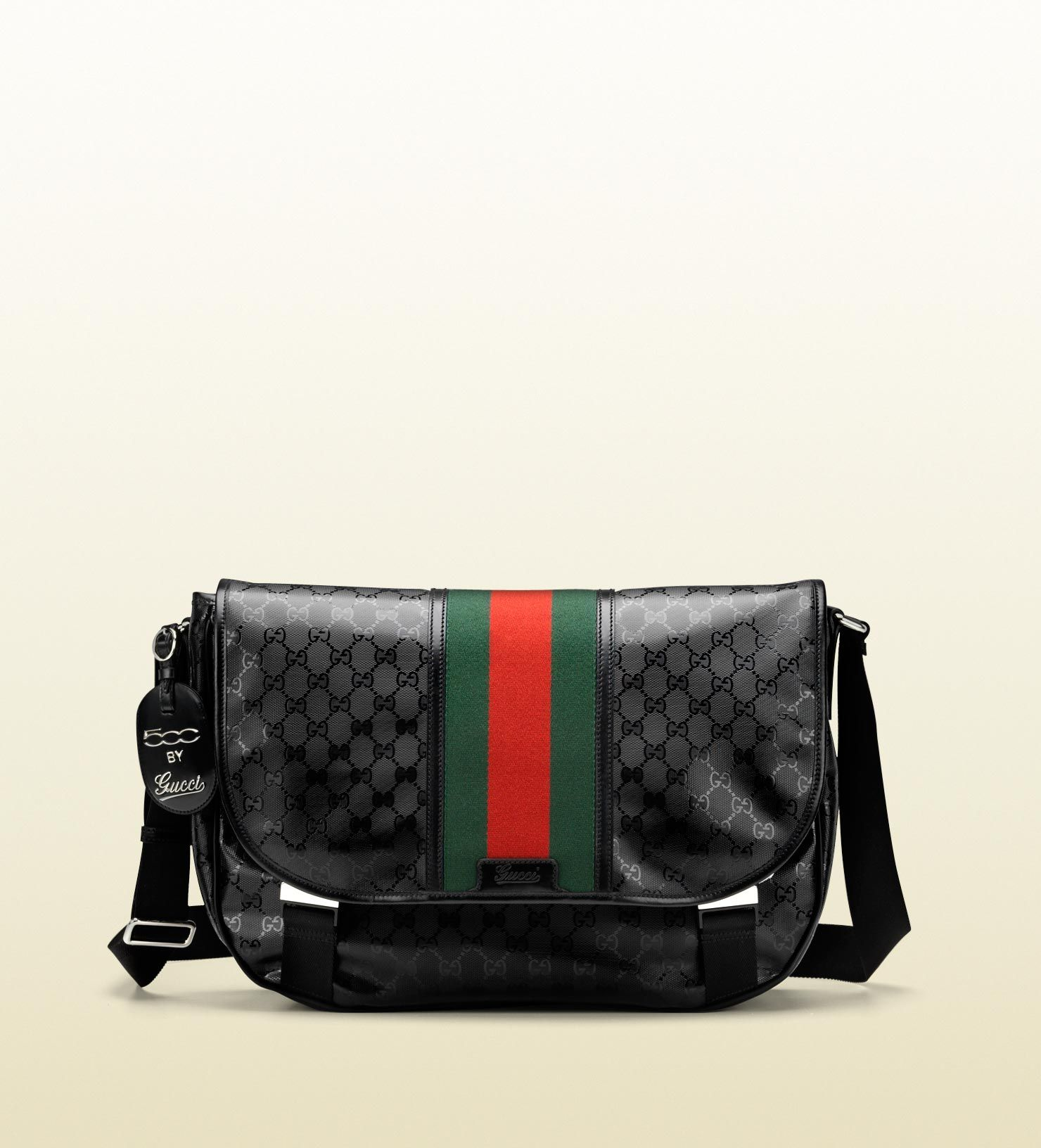 e54dfdab89bb black GG imprimé with green/red/green signature web and black leather trim  $1325