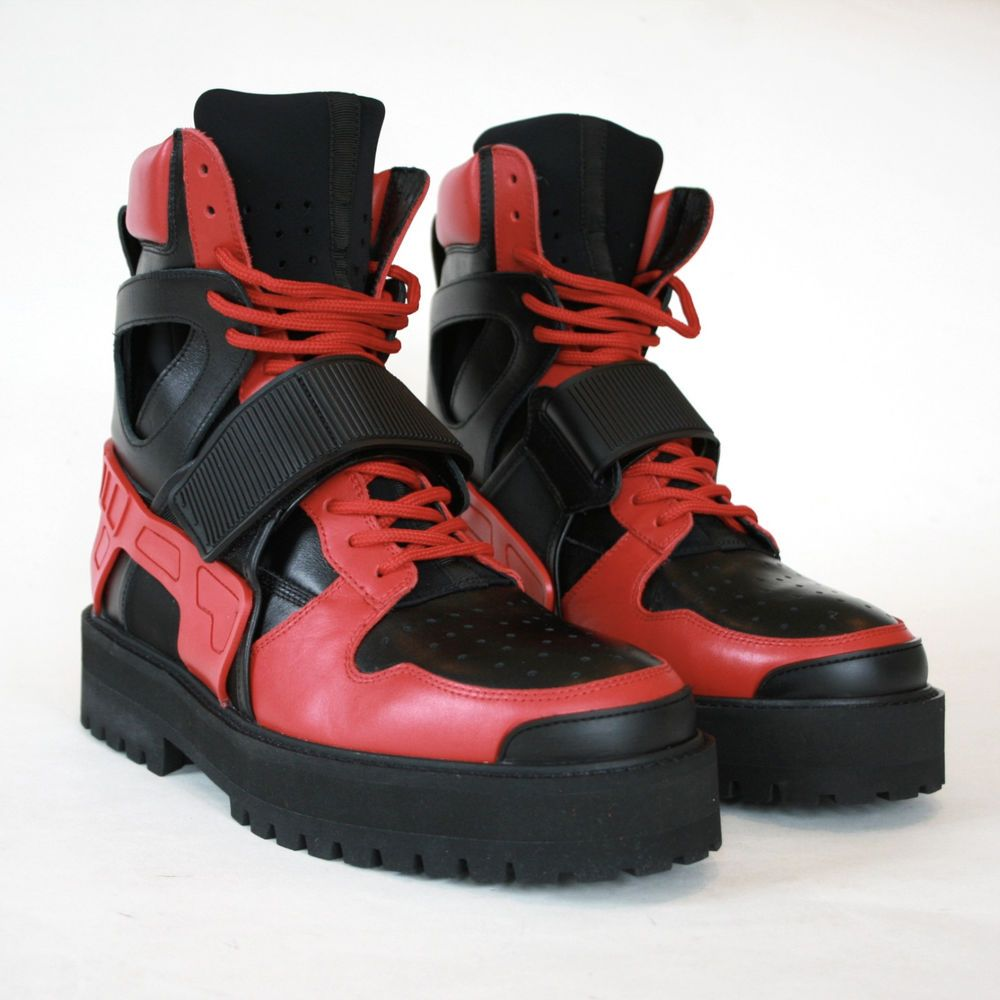 Hba Hood By Air Red Black Leather Neoprene Forfex Avalanche Strap