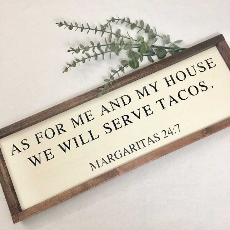 As for me and my house we will serve tacos - Antique White / Black #homedecor
