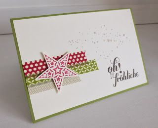 washi tape card stampin with beemybear paper by. Black Bedroom Furniture Sets. Home Design Ideas