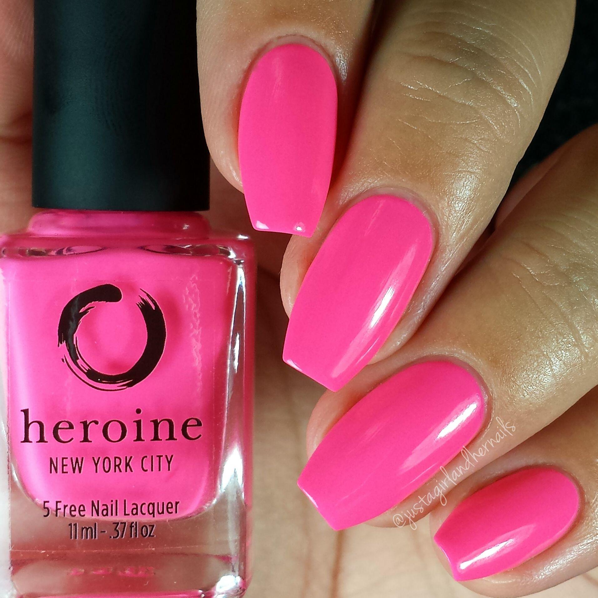 Mean girl | Neon pink nail polish, Neon pink nails and Pink nails