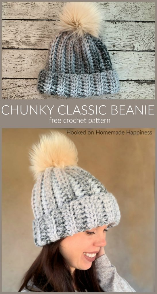 Photo of Chunky Classic Beanie Crochet Pattern
