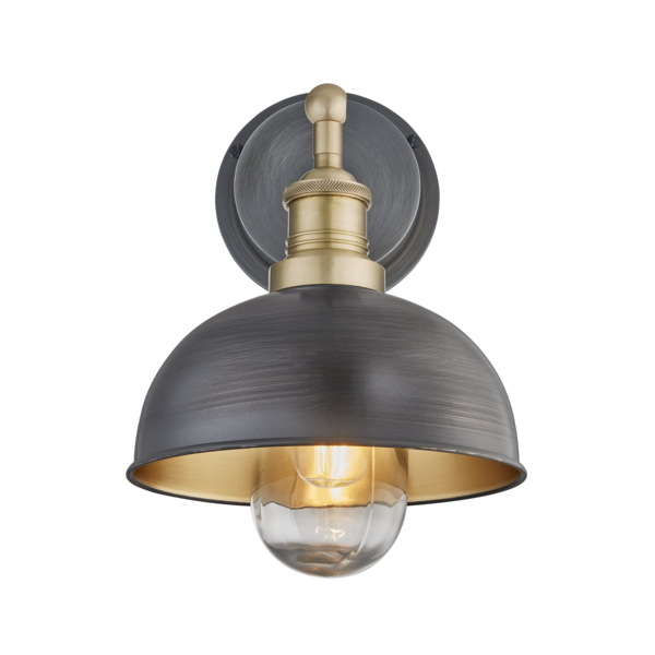 Our Popular Brooklyn Dome Wall Light Is Now Available For Outside Bathroom Use Allowing You To Tra Brass Outdoor Lighting Wall Lights Outdoor Light Fixtures