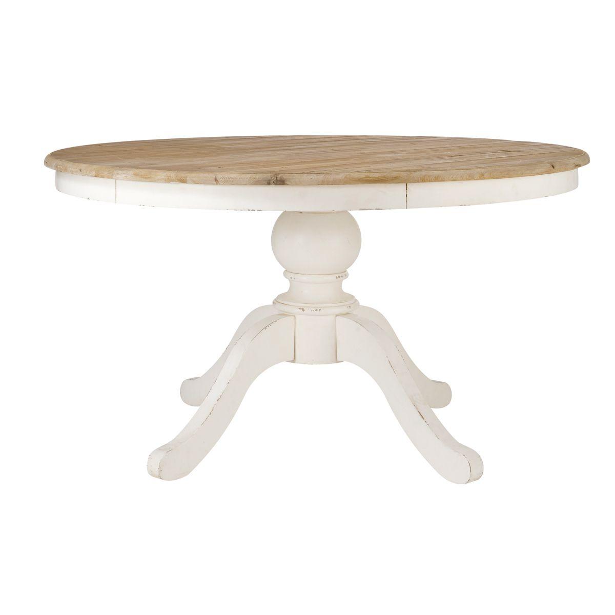 Mesa de comedor redonda marfil PROVENCE | renovacion | Pinterest ...