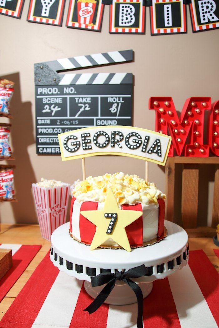 movie theater birthday party Movie Theatre Birthday Party | Movie/Film Inspired Birthday Party  movie theater birthday party