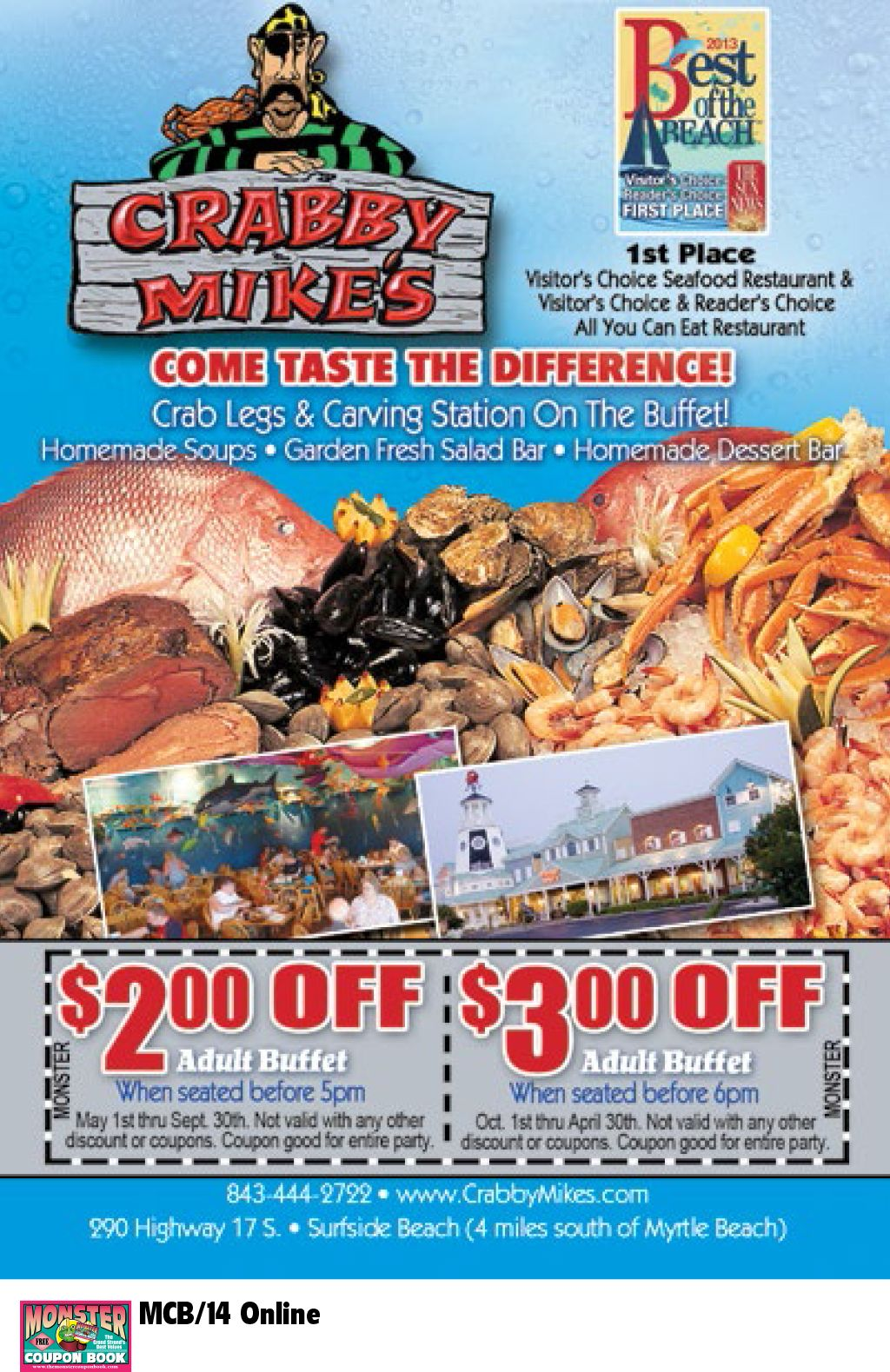 Crabby Mike S Calabash Seafood Co Myrtle Beach Resorts Calabash Seafood Seafood Place Seafood