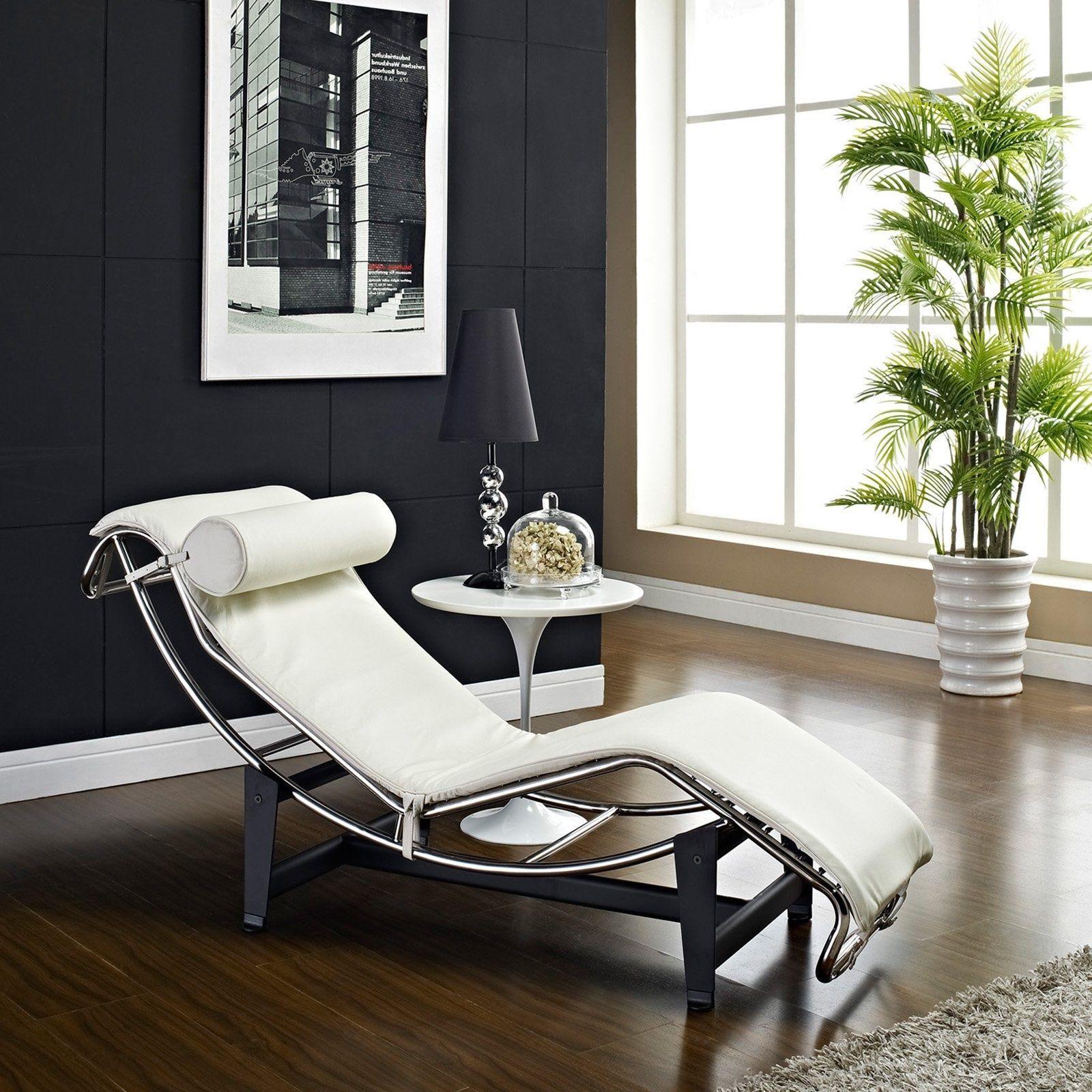 Chaise Möbel Creme Liege Stuhl Kleine Chaise Lounge