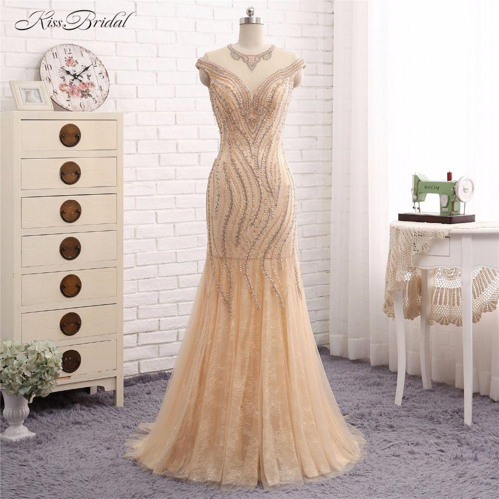 evening dresses long vestido de festa mermaid short cap sleeve