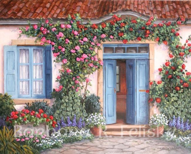 Barbara Felisky Rose Around The Door art Painting 50% off & Barbara Felisky Rose Around The Door art Painting 50% off | Doors ...