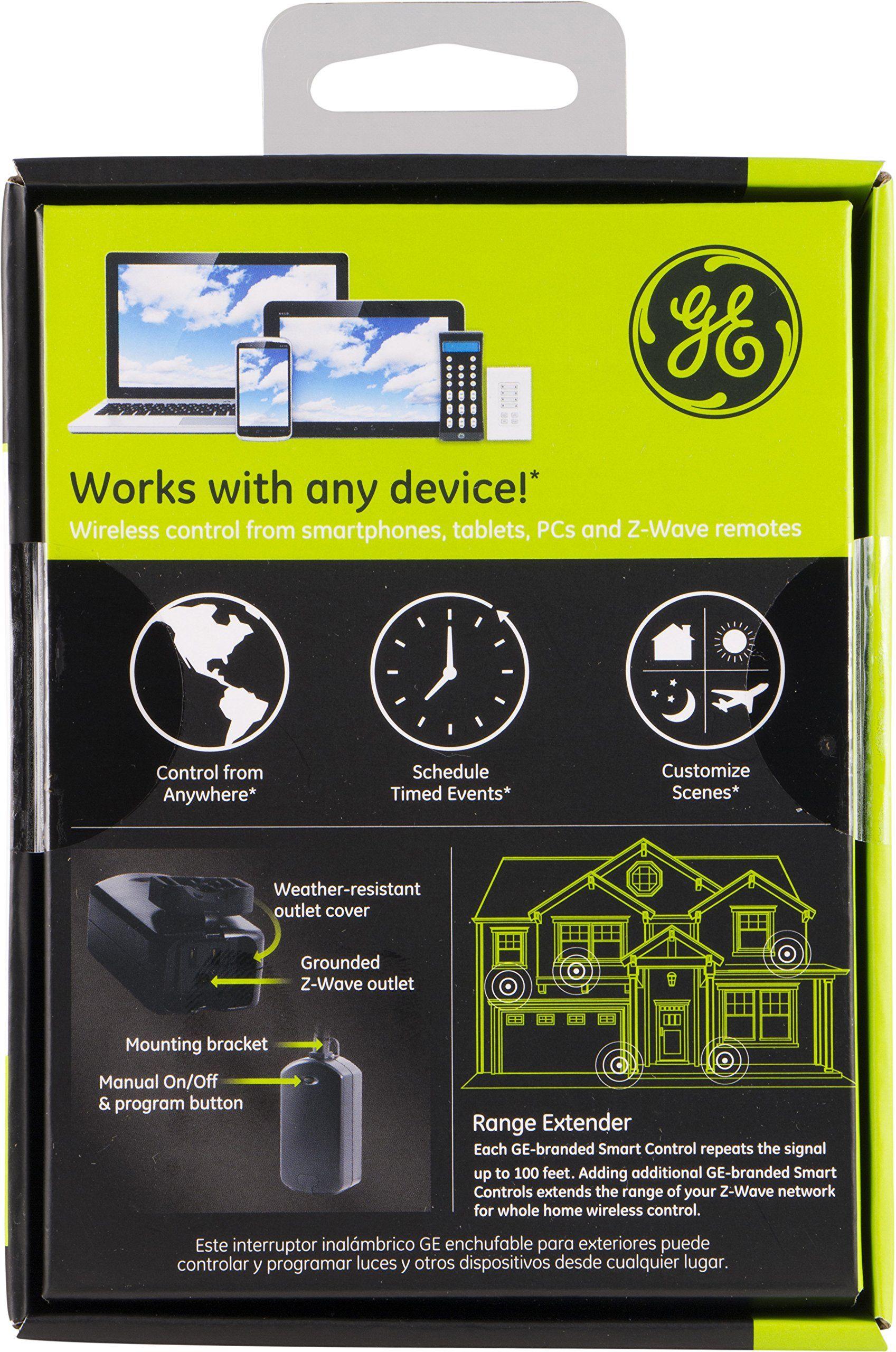 Ge Zwave Wireless Smart Lighting Control Outdoor Module On