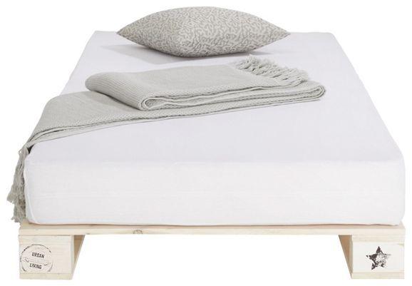 Stylisches Bett in Palettenoptik - ein cooler Schlafplatz für Ihr Zuhause