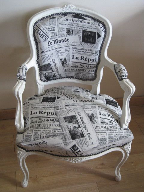 relooking de chaise fauteuil louis xv