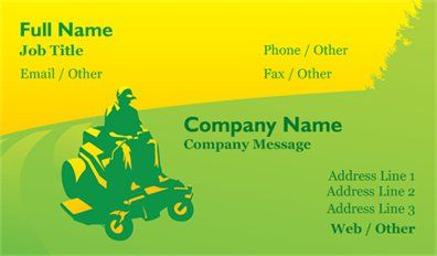 Personalized Standard Business Cards Designs Landscaping Gardening Construction Lawn Care Business Cards Landscaping Business Cards Premium Business Cards