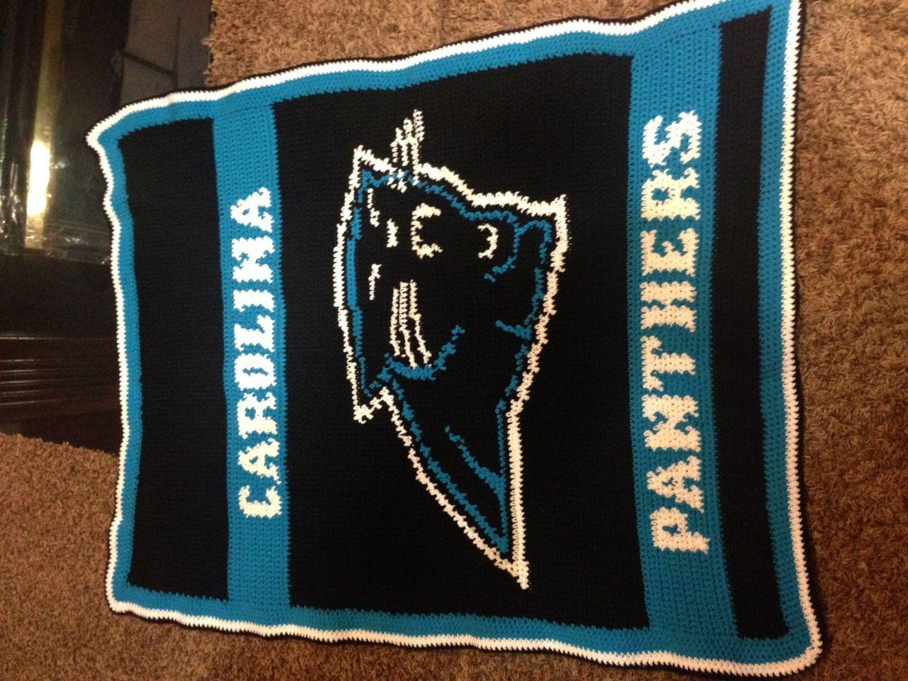 Carolina Panthers Logo Crochet Afghan Graph Pattern Downloadable By Tashiab Basic Granny Square Stitch Diagram Citiusa