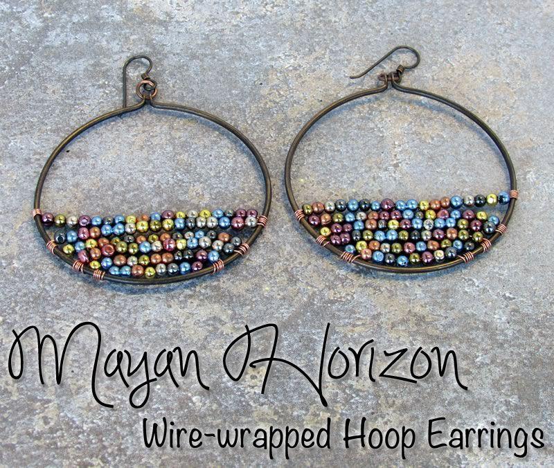 Mayan Horizon Wire-wrapped Vintaj Hoop Earrings (Loose Ends: A Blog ...