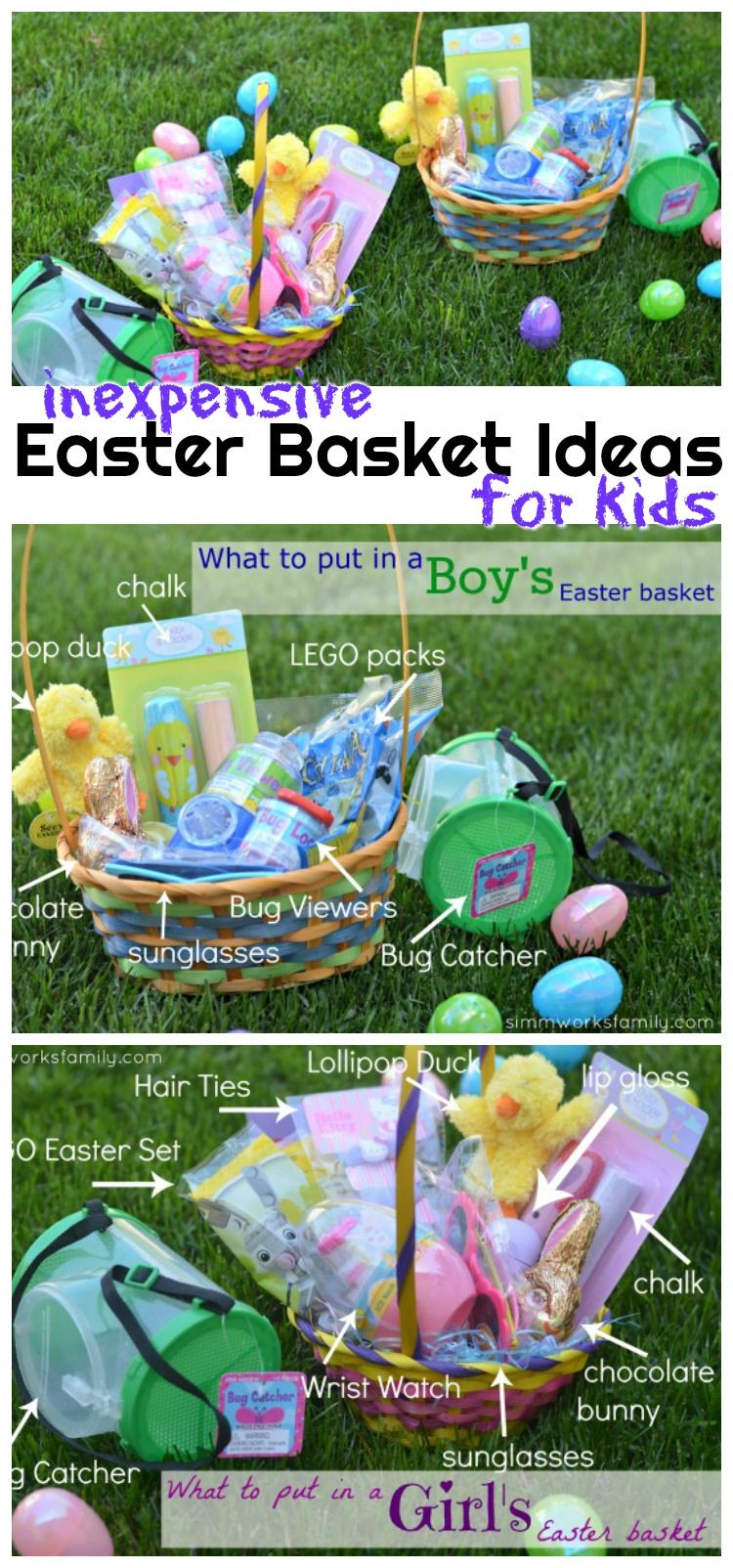 Inexpensive Easter Basket Ideas For Kids A Crafty Spoonful Inexpensive Easter Basket Ideas Easter Baskets Easter Gifts For Kids