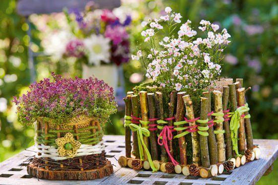 Photo of Borddekorasjon med blomster: tinker blomsterkurver   familie.de
