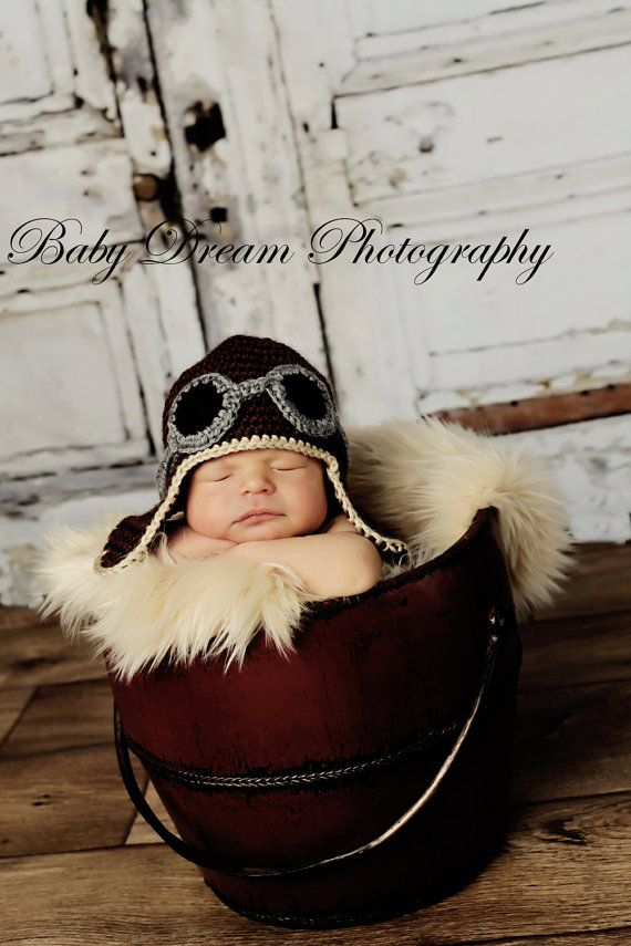 because baby boys look way cute dressed up like an aviator.