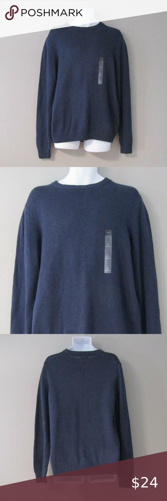 Nwt Croft Barrow Crew Neck Navy Blue Sweater L Navy Blue Sweater Blue Sweaters Sweaters [ 1740 x 580 Pixel ]