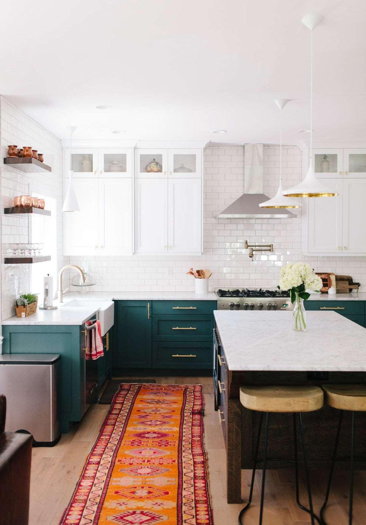 The best dark green kitchens like ever caravan pinterest