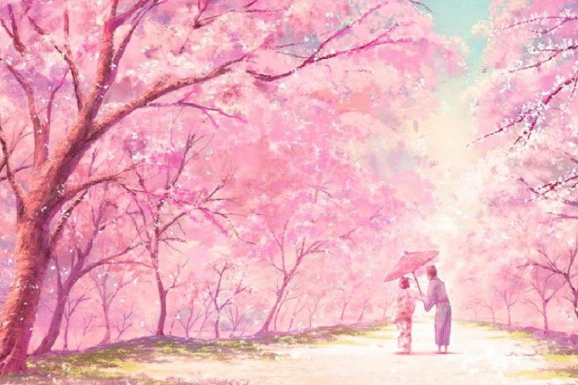 Cute Pink Anime Hd Desktop Wallpaper Widescreen High Anime Scenery Scenery Wallpaper Anime Scenery Wallpaper
